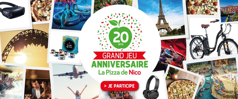 Grand Jeu anniversaire La Pizza de Nico