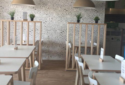 salle et decoration terrasse pizzeria montpellier La Pizza de Nico