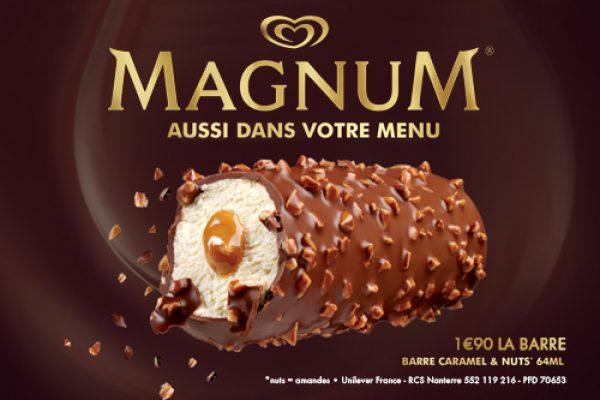 Magnum barre dans votre menu de Nico