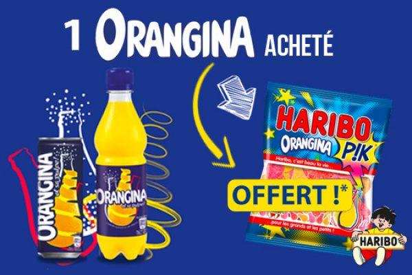 Bonbons Haribo x Orangina offerts