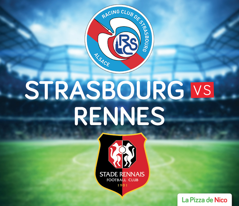 gagne 2 billets pour le match strasbourg rennes pizza. Black Bedroom Furniture Sets. Home Design Ideas