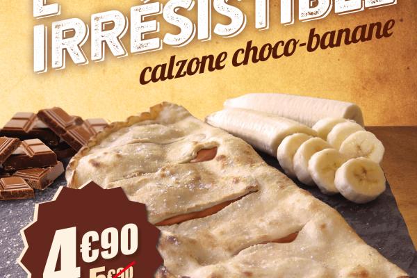 Pizza Irrésistible choco ananas coco