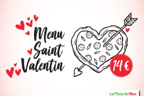Menu Saint Valentin 14 €